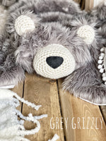 Regular Size Grey Grizzly Bear Rug