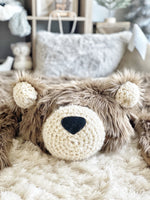 Regular Size Cappuccino Grizzly Bear Rug