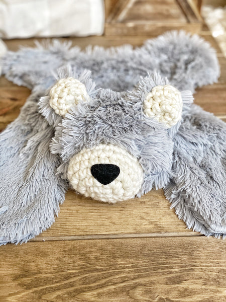 Grey Minky Bear Lovey