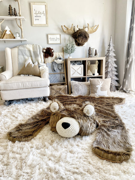Extra Large Cappuccino Grizzly Bear Rug