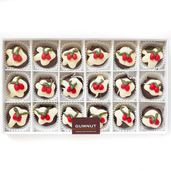 Christmas Pudding Truffle Chocolates (box of 18 truffles/300 grams)