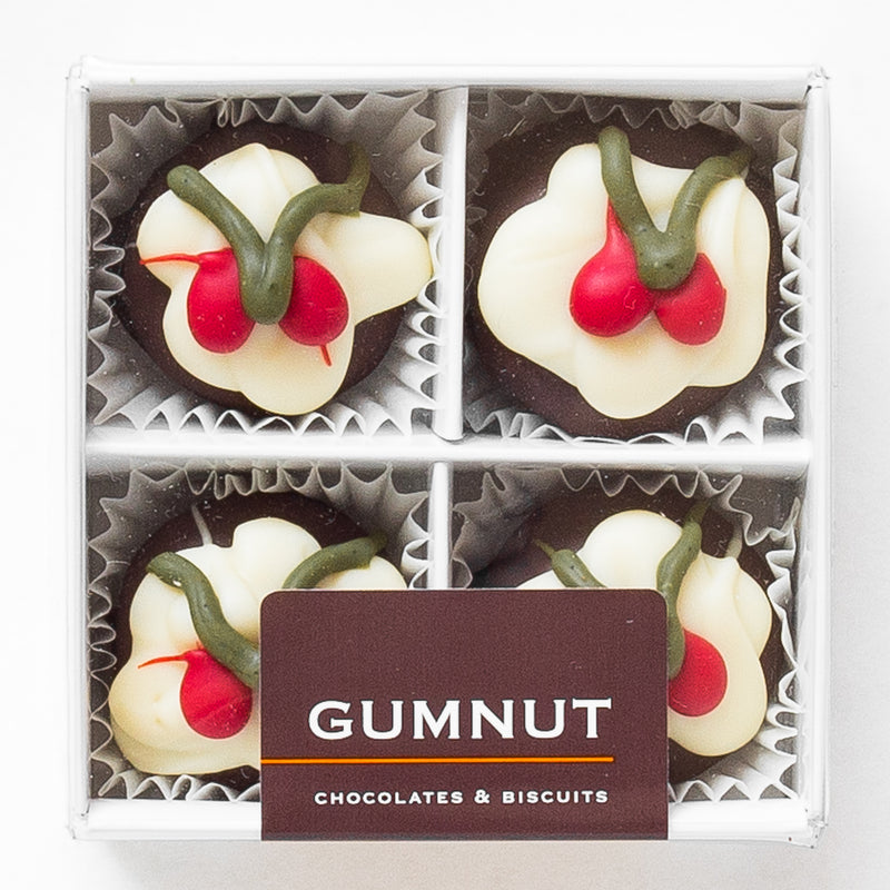 Christmas Pudding Truffle Chocolates (box of 4 truffles)