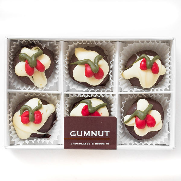 Christmas Pudding Truffle Chocolates (box of 6 truffles)