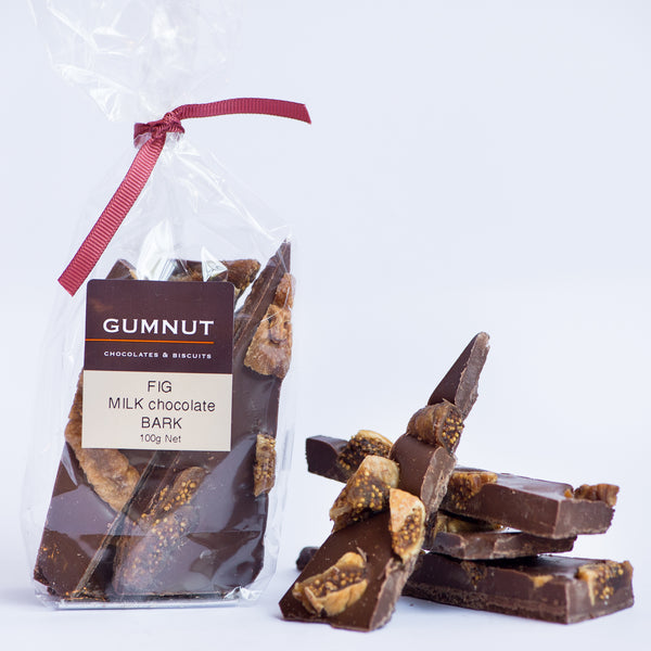 Fig Milk Chocolate Bark 100g