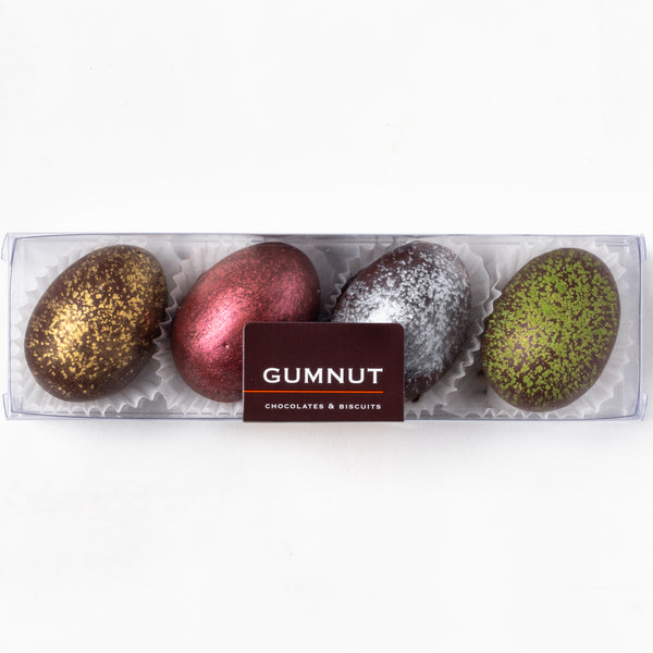Dark Chocolate Truffle Easter Eggs (box of 4 eggs/120 grams)