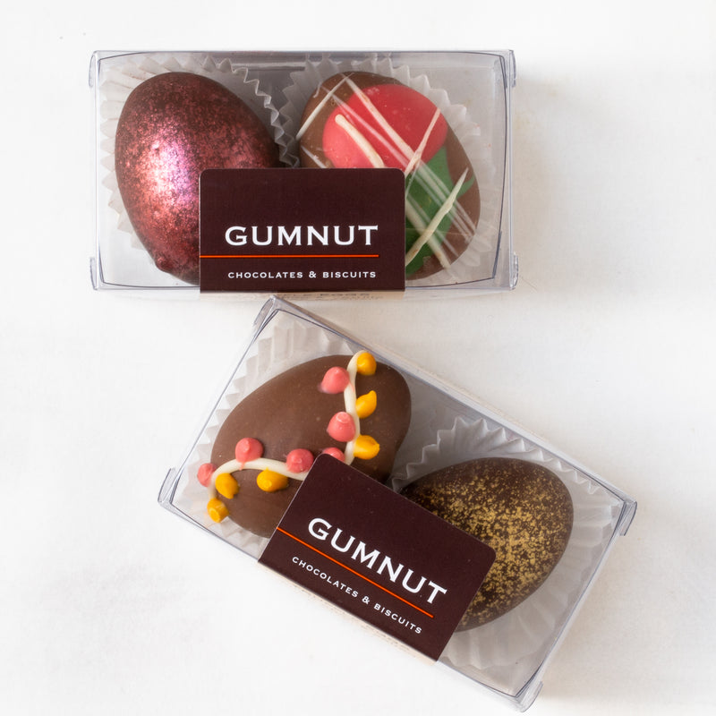 Milk & Dark Chocolate Truffle Easter Eggs (box of 2 eggs/60 grams)