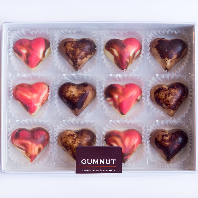 Marble Hearts Chocolates
