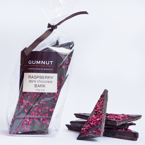 Raspberry Dark Chocolate Bark 100g