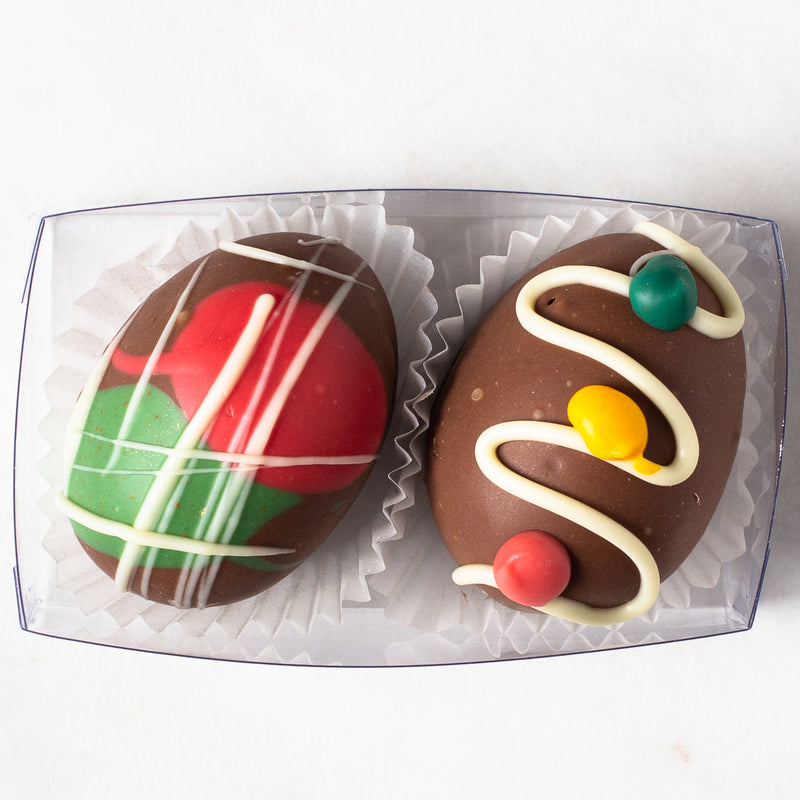 Milk Chocolate/Salted Caramel Truffle Easter Eggs (box of 2 eggs/60 grams)