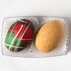 Milk and White Chocolate Truffle Easter Eggs (box of 2 eggs/60 grams)