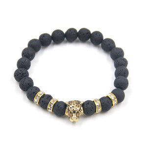 Matte Black Tiger Bracelet for Men.