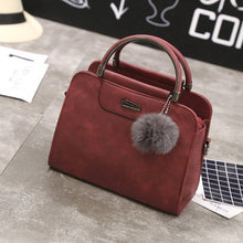 Load image into Gallery viewer, Compact Vintage Tote with Pom.