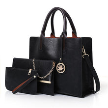 Load image into Gallery viewer, 3 Piece Ladies Handbag Set including Tote, Messenger and Purse.