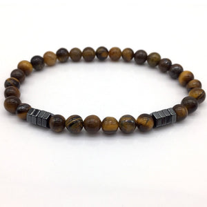Classic Stone Bead and Charm Bracelet for Men.