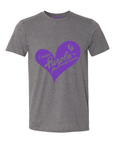 Charcoal Unisex Premie Awareness Shirt