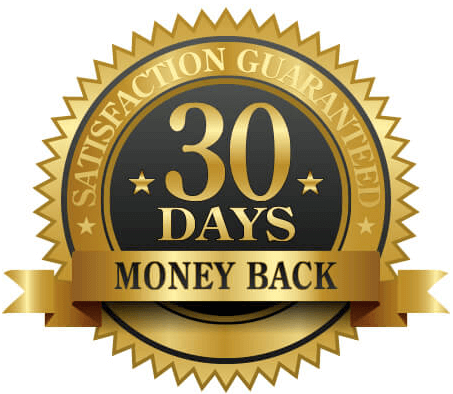 30 Day Money Back Guaranteed Badge