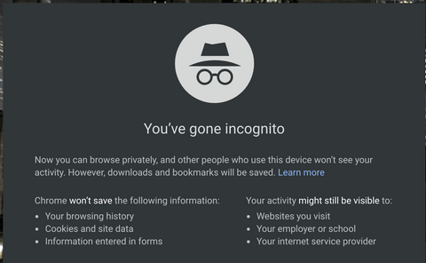 Incognito Mode in Chrome