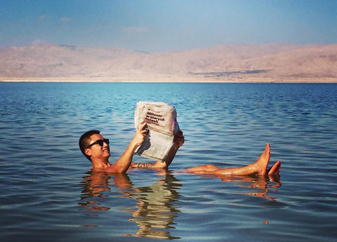 Reading in the Dead Sea!