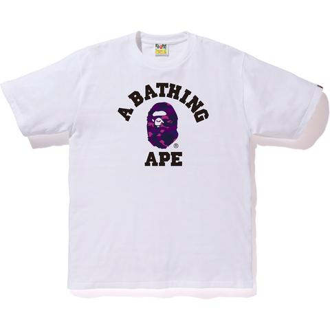 "Bape Purple Color Camo College Tee ""White"" - Centrall Online"