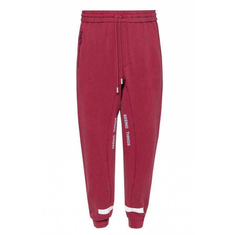 Off White - Burgundy Seeing Things Sweatpants - Centrall Online