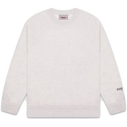 FEAR OF GOD ESSENTIALS 3M Logo Crewneck Sweatshirt Light Heather Grey/Black - Centrall Online