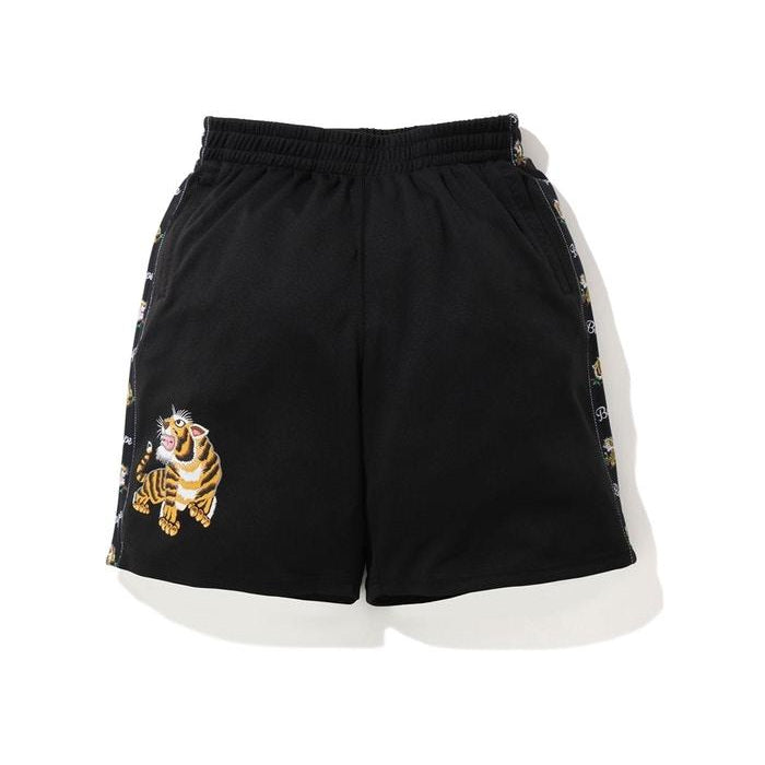 BAPE Tiger Jersey Wide Shorts Black - Centrall Online