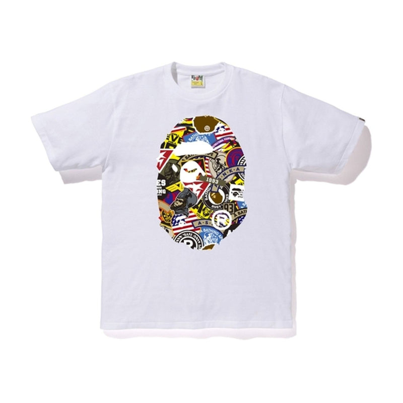 Bape Patched Big Head Tee White - Centrall Online