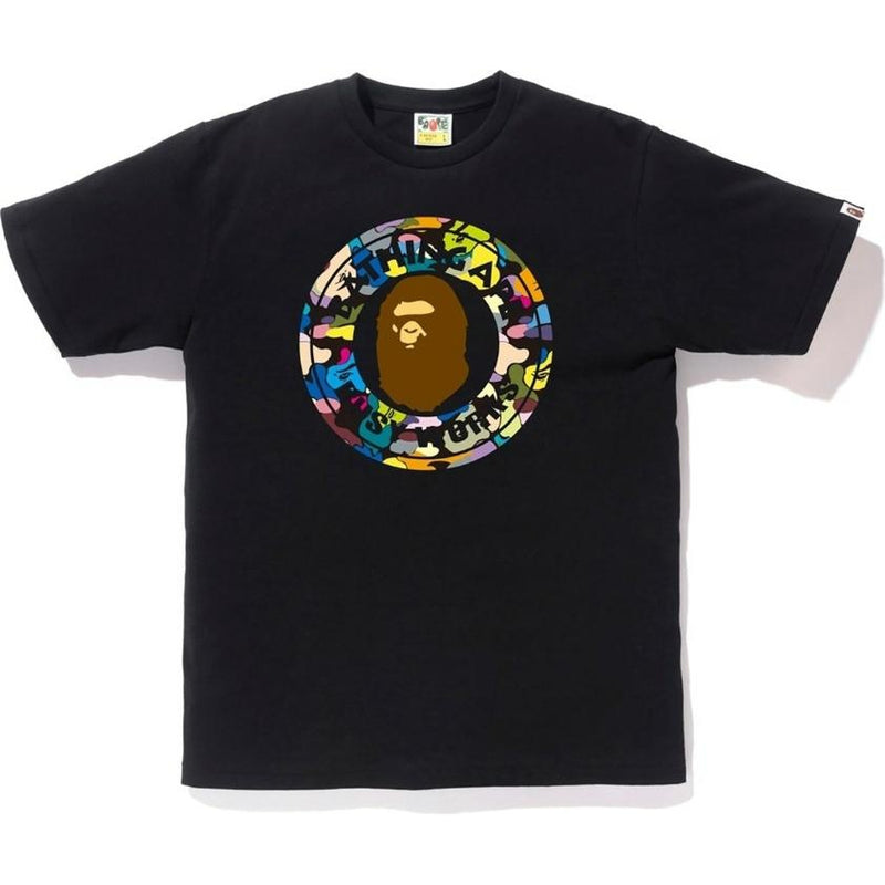 Bape Multi Camo Busy Works Tee Black - Centrall Online