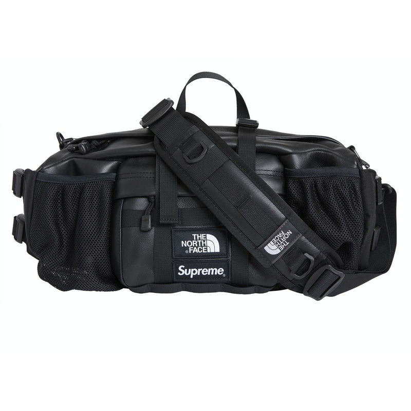 Supreme X The North Face - Leather Mountain Waist Bag Black - Centrall Online