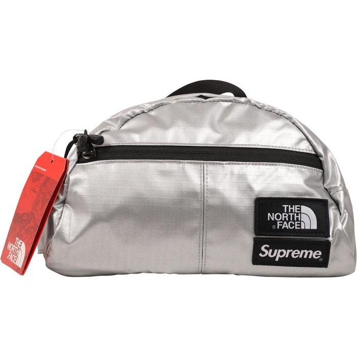 Supreme The North Face Metallic Roo II Lumbar Pack Silver - Centrall Online