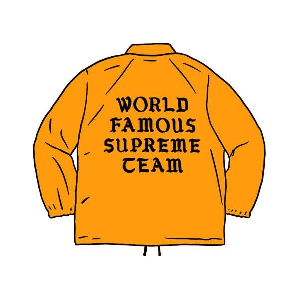 Supreme World Famous Coaches Jacket Light Orange - Centrall Online