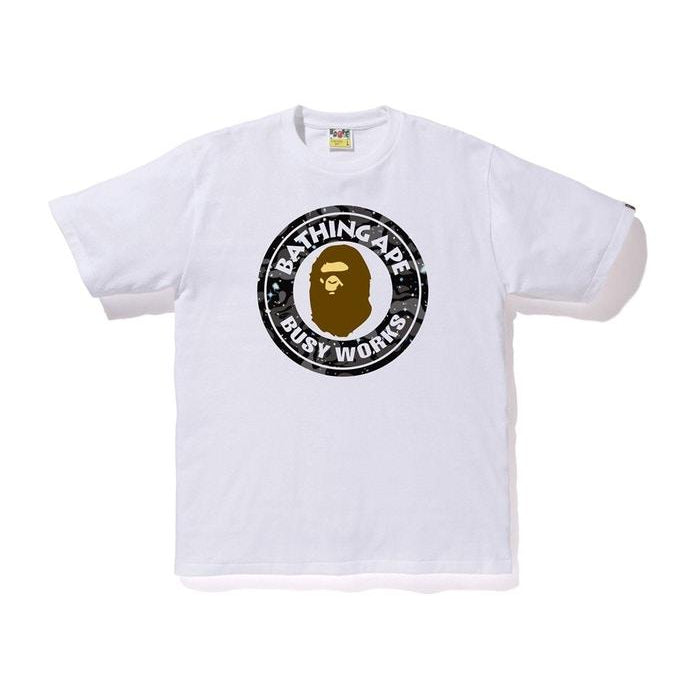 BAPE Space Camo Busy Works Tee White - Centrall Online