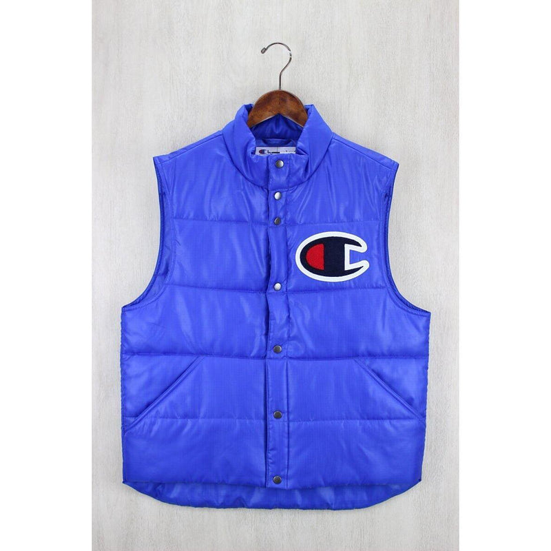 Supreme x Champion - Blue Quilted Vest - Centrall Online