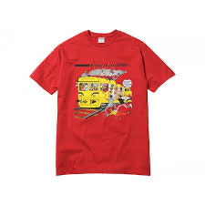 Supreme punany train tee red - Centrall Online