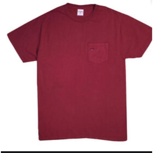 Red burgundy supreme pocket tee - Centrall Online