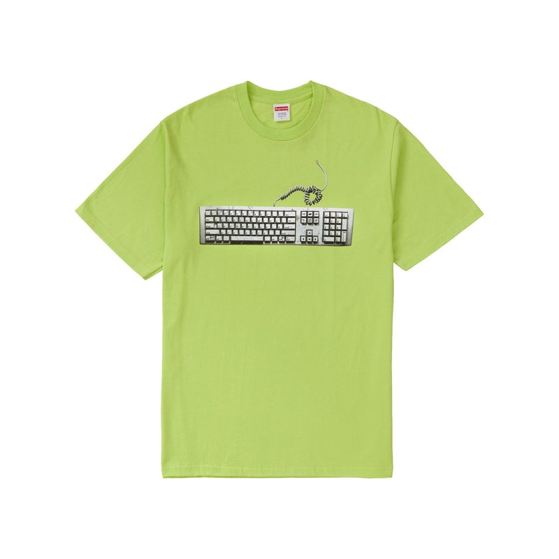 Supreme keyboard tee neon green