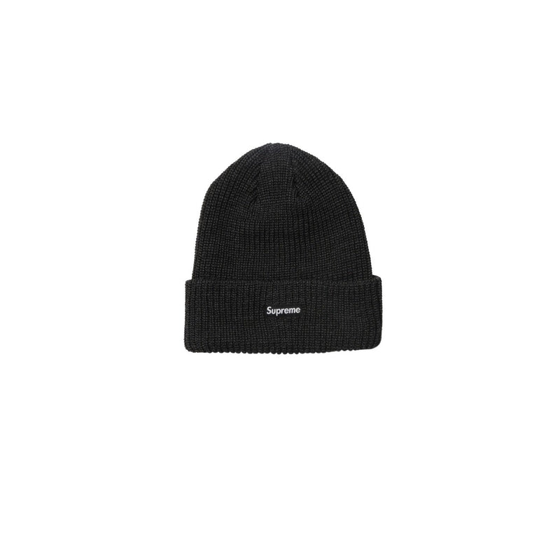 Supreme Heather Loose Gauge Beanie Black - Centrall Online
