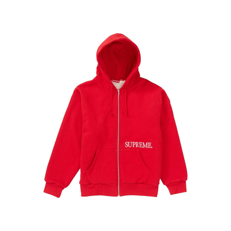 Supreme thermal Zip-up Red