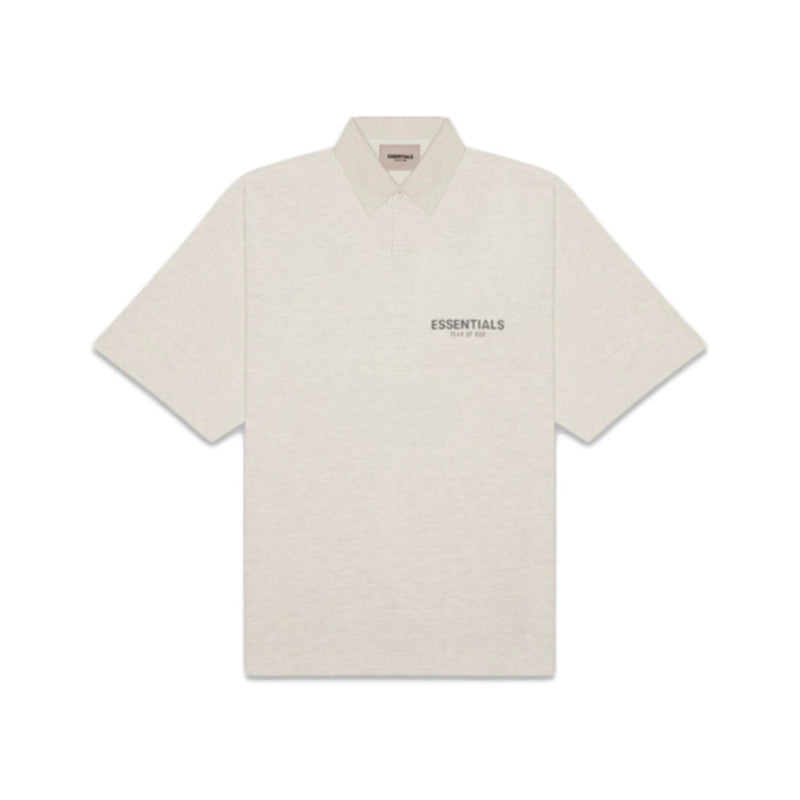Fear of God Essentials Oatmeal Heather Polo - Centrall Online