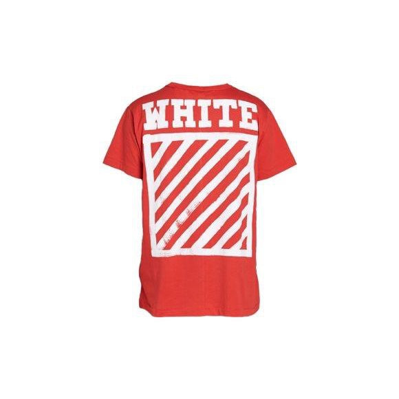 Off-White - Red Paint Brush Tee