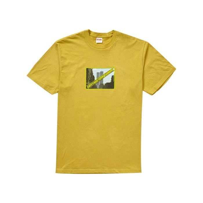 Supreme greetings tee acid yellow