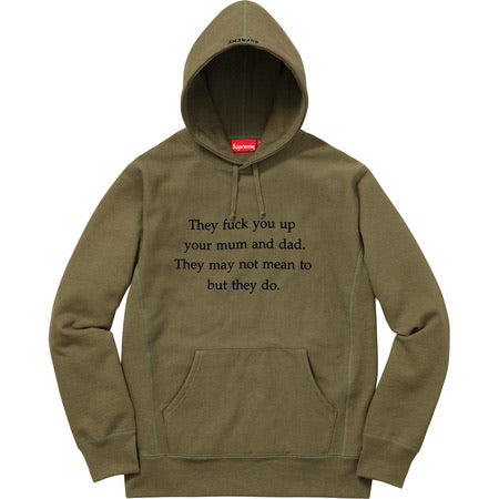 Supreme They Fuck You Up Hoodie Green