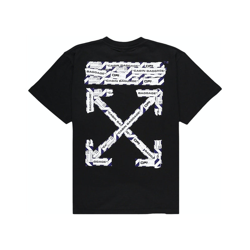 Off-White Oversized Fit Airport Tape T-Shirt Black/Multicolor - Centrall Online