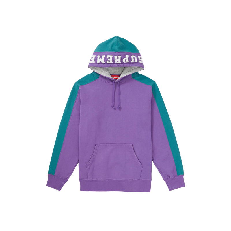 Supreme Paneled Sweatshirt FW18 Purple Green