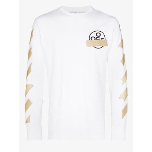 Off-White - White Tape Arrows Long Sleeves Tee - Centrall Online