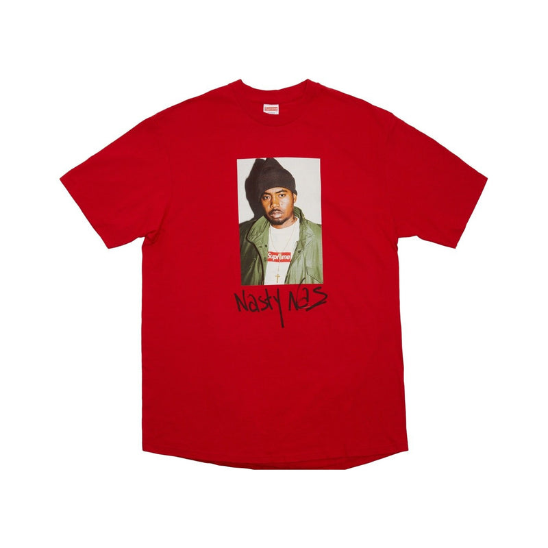Nas Supreme red tee - Centrall Online