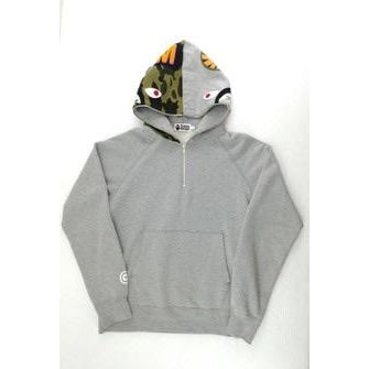 Bape shark half zip grey and green camo - Centrall Online