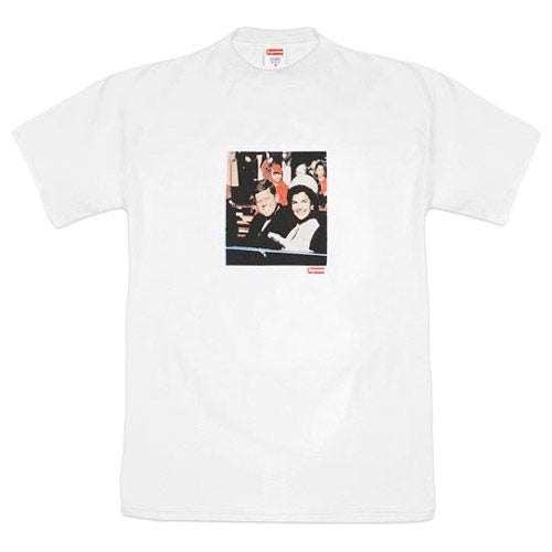 JFK supreme tee white