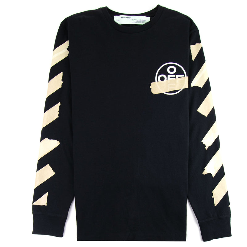 Off-White - Black Tape Arrows Long Sleeves Tee - Centrall Online