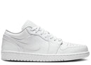 Jordan 1 Low Triple White Tumbled Leather - Centrall Online